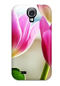 Special Design Back Tulips Spring Phone Case Cover For Galaxy S4
