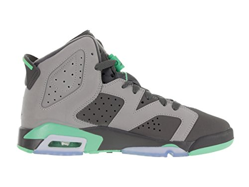 Jordan Nike Kids Air 6 Retro Gg Cmnt Gry / Grn Glw / Drk Gry / Grn G Scarpa Da Basket 4.5 Bambini Us
