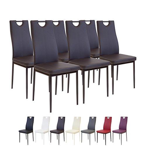 Albatros 2917 Salerno Set de 6 sillas de Comedor, marron