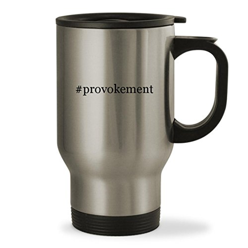 Price comparison product image #provokement - 14oz Hashtag Sturdy Stainless Steel Travel Mug, Silver