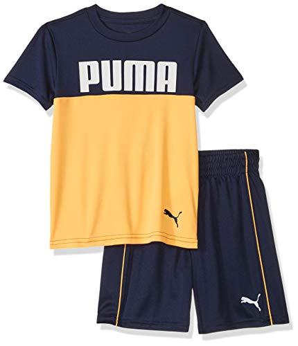 PUMA Little Boys' T-Shirt & Short Set, Peacoat 5