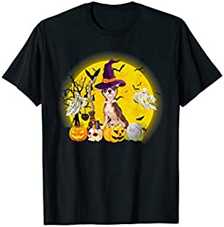 Chihuahua Dog Pumpkin  Halloween Gifts T-shirt | Size S - 5XL