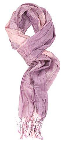 Love Lakeside-Modern, Lightweight 100% Silk Solid, Floral & Animal Print Accent Scarves Lavender & Light Pink (Lavender Silk Scarf)