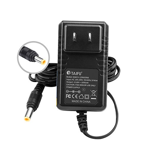 TAIFU AC Adapter For Elmo TT-12 TT-12ID TT12 TT12ID TT-02 9419 TT-02s Projector Interactive Document Camera #1331 P/N : Elmo 5ZA0000104C 12 Volts Power Supply Cord Cable PS Wall Home (Elmo Ac Adapter)