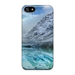 Iphone Case - Tpu Case Protective For Iphone 5/5s- Aqua Mountain Lake