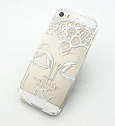 Plastic Case Cover for iPhone 5 5S 5C 6 6Plus (Pick One) Henna Close Up Buddha buddhist indian varada mudra ohm thai ganesh