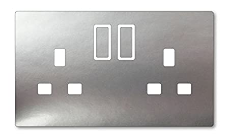 Metallic Silver Vinyl Uk Light Switch Stickers Childs Bedroom - Vinyl-decals-to-decorate-light-switches-and-outlets
