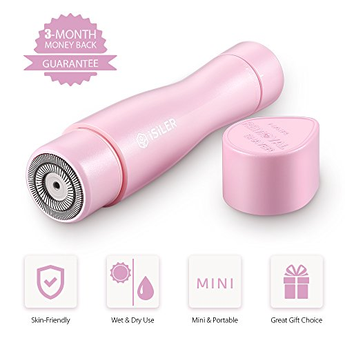 Women's Painless Hair Remover, iSiLER Hair Removal for Women, Removes Unwanted Hair, Wet and Dry Use, Electric Shavers for Women, Mini Portable Electric Shaver