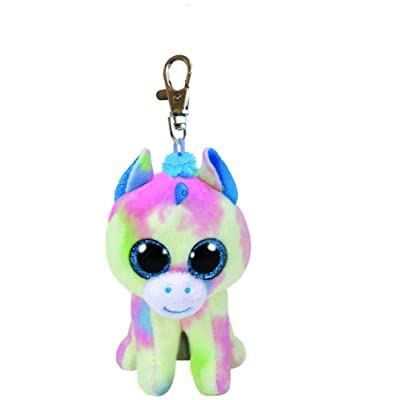 Ty TY35208 Blitz Blue Unicorn-Boo Key Clip, Multicolored: Toys & Games