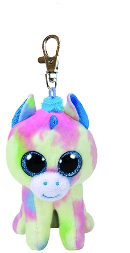 da8ad18a3a4 Image Unavailable. Image not available for. Color  Ty 3 quot  Blitz the  Unicorn Key Clip Beanie ...