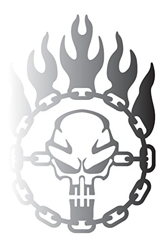 Immortan joe war logo chain skull steering wheel mad max inspired vinyl decal large