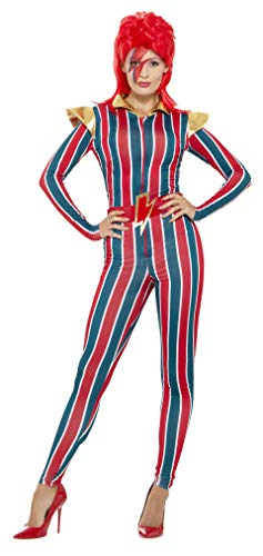 David Bowie Costumes (Smiffys Women's Miss Space Superstar Costume, Multi,)