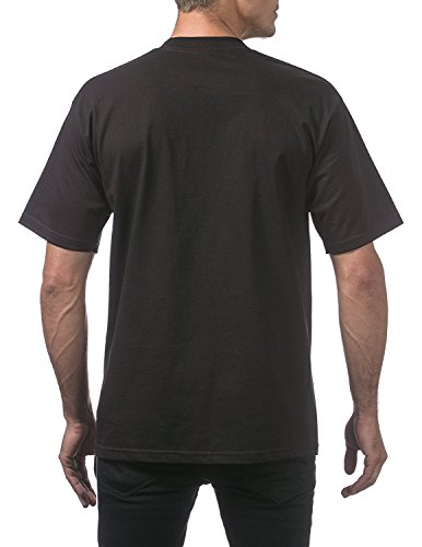 Pro Club Men's Heavyweight Short Sleeve T-Shirt, Black, 4X-Large (3 Pack) Photo #2