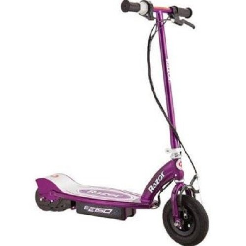 Razor E150 24-Volt Electric Kick Scooter with Battery and Charger (Purple)