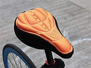 SIMYJOY Generic Ciclismo 3D Gel Silicona Funda de Asiento Funda de coj/ín Suave MTB Acolchado Bici Funda de Asiento Bicicleta Asiento