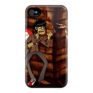 Iphone 4/4s LlK18529uZQP Allow Personal Design High Resolution Gorillaz Band Pictures Shock Absorbent Cell-phone Hard Cover -TimeaJoyce