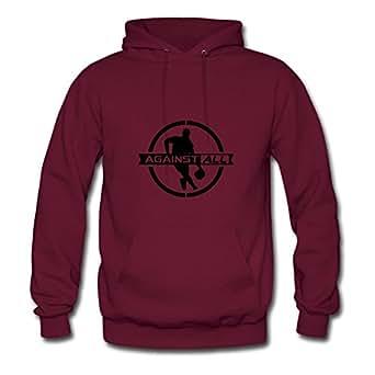 Against_all_f1 Sweatshirts Shirts X-large Women Customizable Burgundy