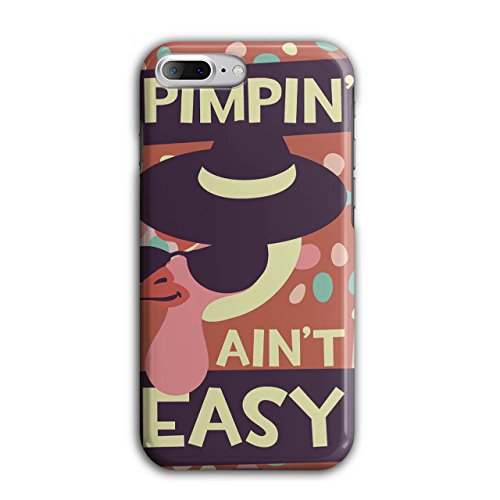 Pimpin Aint Easy Fun Chick Love NEW Black 3D iPhone 7 Plus Case | Wellcoda (Pimps And Hoe Party Costumes)