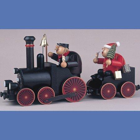 KWO'' Train Driver with Engine Smoking Man Figurine, Wood Multi-Colour, 30 x 30 x 22 cm by KWO (Image #1)