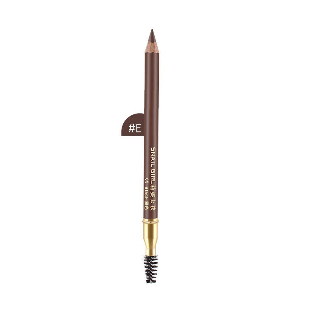 UOKNICE Eye Shadow for Women, Waterproof Natural Tool Long Lasting Wood Liner Cosmetic Makeup Eyebrow Pencil