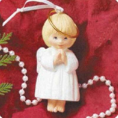 - Hallmark 1995 Ceramic Ornament Bell - JOY Angel