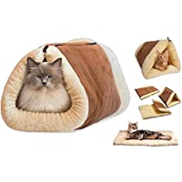 2in1 Cat and Puppy Pet Pyramid Tunnel Bed and Mat Indoor Tube Cushion