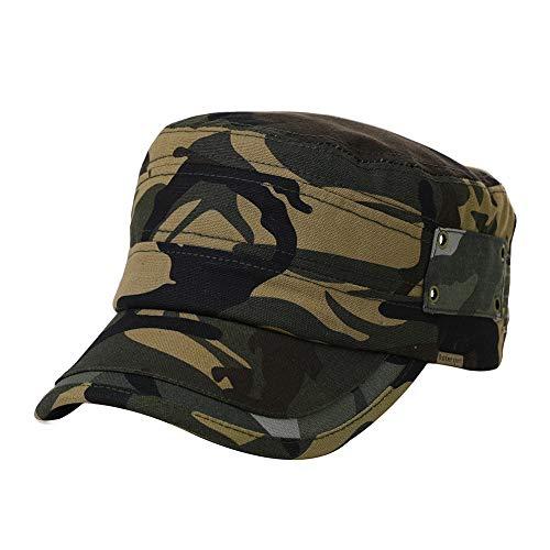 Womens Army Cap Military Sun Hat Men Large Baseball Cadet Camouflage Camoflauge Camo Khaki (Clothing Accessories Womens : Khaki)