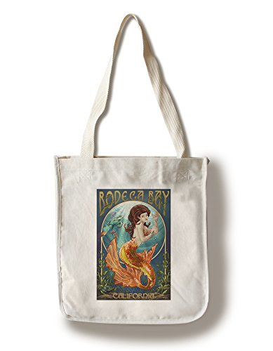 Bodega Bay, California - Mermaid (100% Cotton Tote Bag - Reusable)