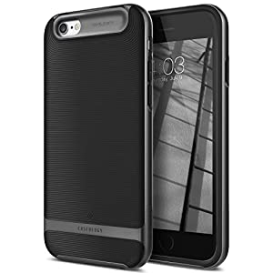 Caseology Wavelength Series iPhone 6S Plus Cover Case with Pattern Slim Protective for Apple iPhone 6S Plus (2015) / iPhone 6 Plus (2014) - Black