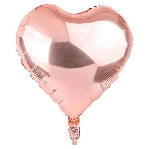 18 Inch Rose Gold Baloon Globos Birthday Party Decorations Balloons Paillette Valentine's Day Ballons Heart Wedding Palloncini 2A ()