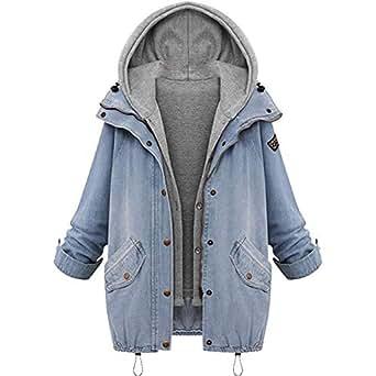 Besooly Women Winter Outwear Warm Collar Hooded Coat