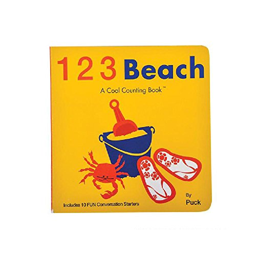 1-2-3 Beach A Cool Counting Book (With Sticky Notes) by Bargain World