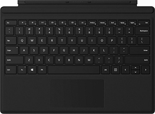 """2018 Microsoft Surface Pro 12.3"""" High Resolution PixelSense Touchscreen Tablet PC with Black Type Cover, Intel Core M3-7Y30 Processor, 4GB RAM, 128GB SSD, WIFI, Windows 10 Pro, Platinum"""