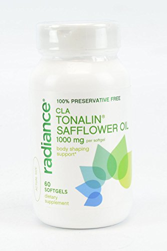 Radiance 100% Preservative Free CLA Tonalin Safflower Oil 1000mg Body Shaping Support 60 Softgels Dietary Supplement