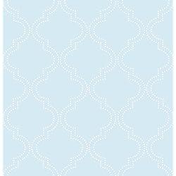 Wall Pops NU1424 Blue Quatrefoil Peel and Stick Wallpaper