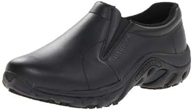 Merrell Women's Jungle Moc Pro Grip Slip-Resistant Work Shoe,Black,5 M US