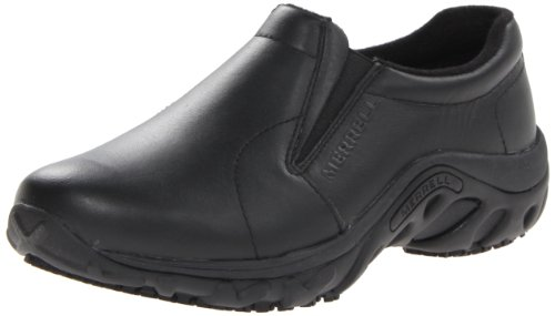 Merrell Women's Jungle Moc Pro Grip Slip-Resistant Work Shoe,Black,5 M US by Merrell