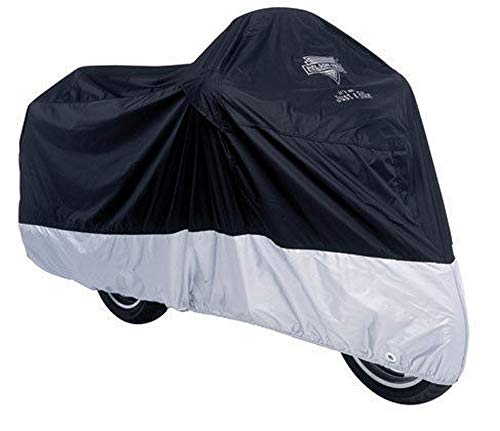 Nelson-Rigg Deluxe All Season Motorcycle Cover Black/Silver XXL 2XL ()