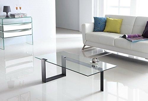 Design Couchtisch Cobra aus Glas klar | 120 x 60 x 35cm ...