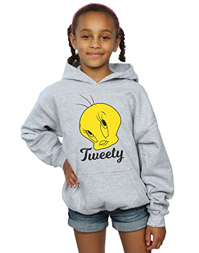 Looney Tunes Girls Tweety Pie Head Hoodie 5-6 Years Sport - Tweety Hoodie