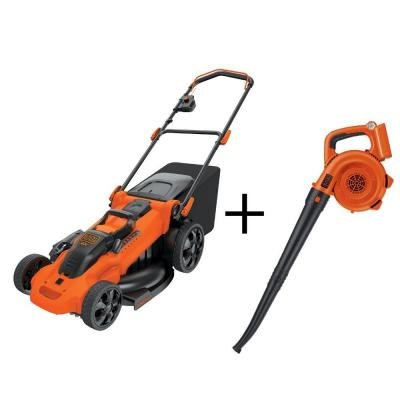 BLACK+DECKER 20 in. 40-Volt Walk-Behind Cordless Electric Mower with Electric Sweeper
