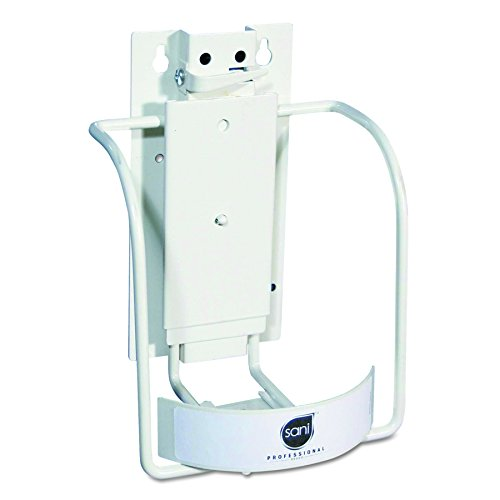 Sani 1 Bracket - Sani Professional P010801 Universal 3-in-1 Sani-Bracket, Plastic/Vinyl-Coated Wire, 8