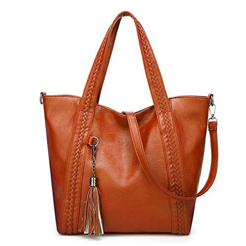 Ploekgda Versione colore coreana Marrone Handbag Tide Shoulder Nero Hand Woman Diagonal Tassel One XXqrA