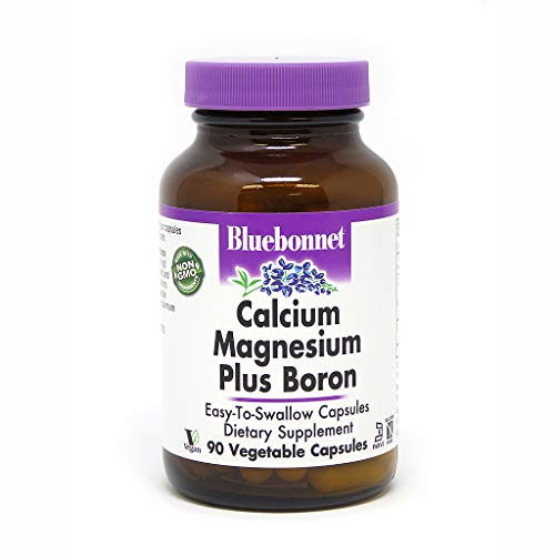 BlueBonnet Calcium Magnesium Plus Boron Vegetarian Capsules, 90 Count