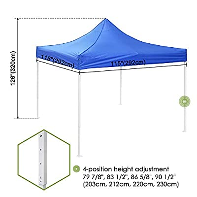 Awesome and Durable Pop Up Canopy Outdoor Tent Folding Gazebo Party Sun Shade Shelter 10x10 ft (Canopy Tent - Navy) : Garden & Outdoor