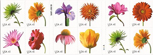 - 2007 Beautiful Blooms #4185a ~ 2 Sided Booklet of 20 x 41c US Postage Stamps
