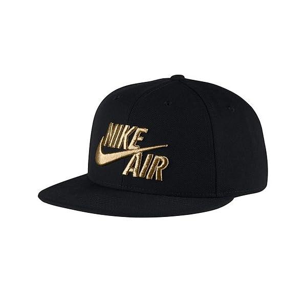Nike Air True Snapback Men's Hat Black/Metallic Gold 805063-011 1