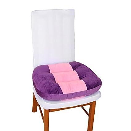 Chair Suporte DealMux poliéster Family Office Voltar Sofá Almofada Decor 44 x 40 x 10 cm