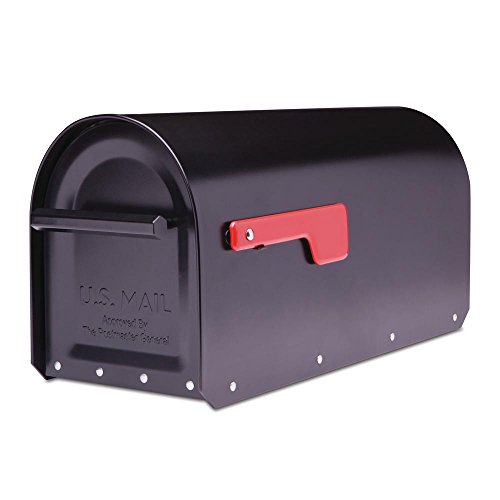 Architectural Mailboxes Sequoia Black Heavy Duty Post Mount Mailbox-5560B-R-10
