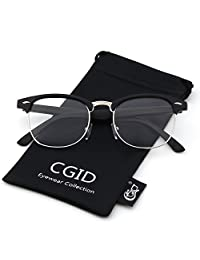 Happy Store CN56 Vintage Inspired Horn Rimmed Nerd Wayfarers UV400 Clear Lens Glasses,Matte Black
